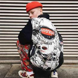 Wholesale Parka Style Jacket Men - Wholesale- High Quality Mens Justin Bieber SUP Jackets Male Winter Harajuku Style NASA Sup Parkas High Street Graffiti Men Sup Coats S-XL