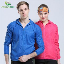 Wholesale Wholesale Running Jackets - Wholesale- Anyfashion Waterproof Men Running Run Jacket Fitness Excercise Outdoor Sports Climbing Soccer Football Gym Jogging Jogger Jacket