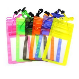 Wholesale Mobile Phone Pouch Galaxy - Waterproof Underwater PVC Package Pouch Diving Bags Outdoor Mobile Phone Pocket Case For Samsung Galaxy iPhone Xiaomi HTC Huawei