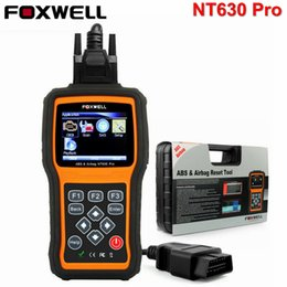 Wholesale car wheel airbag - Foxwell NT630 Pro OBD2 Automotive Scanner ABS SRS Airbag Crash Data Reset Tool SAS Steering Wheel Angle Car Diagnostic Scan Tool