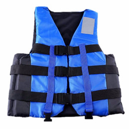 Wholesale Xxl Vests Men - Wholesale- New Polyester Adult Life Vest Jacket Universal Swimming Boating Ski Drifting Foam S-XXL Sizes