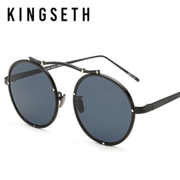 KINGSETH 2017 New Arrival Ultra Light Metal Round Sunglasses For Men & Women Hot Sale Fashion Designer Sun Glasses Unisex Eyewear UV400 Coupon