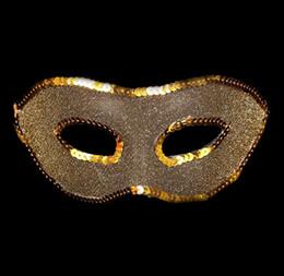 Wholesale Christmas Flat Back Resins - Halloween men's gold, silver, flat head party masquerade mask PVc 25pcs lot