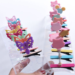 Wholesale Korean Acrylic Hair - Hot Sale Korean Summer Acrylic Cartoon Hair Barrettes Jewelry Accessories Free Shipping Bear Head Children Spring Hair Clips 321