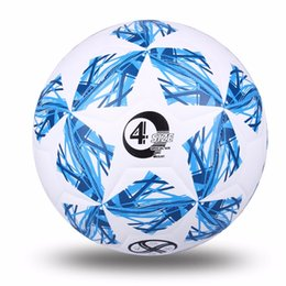 Wholesale Net Needle - High Quality Official Size 5Standard Pu Soccer Ball Training Football Balls Training Ball With Gift Net Needle Blue Green Pink