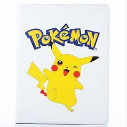 Wholesale China Apple Mobile - Mobile Game Go pocket monsters Pikachue PU Leather Case for ipad mini23 mini 4 ipad 234 Air 5 6 Pro 9.7