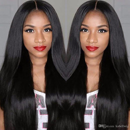 Wholesale Brazil Remy Hair - Full Lace Human Hair Wigs Brazil Virgin Hair 100% Cheap Chinese Remy Human Hair Straight Wig Is Full Of My Shoes, Black Women Full Lace Wigs