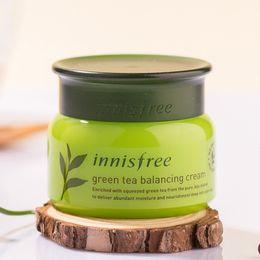 Argentina Marca coreana Innisfree Crema Balanceadora de Té Verde Hidratante Cuidado Facial Crema Cuidado de la Piel Loción 50 ml envío gratis Suministro