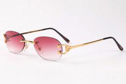 2017 бренд дизайнер негабаритных без оправы солнцезащитные очки для мужчин и женщин уникальный прозрачный стиль объектив солнцезащитные очки gafas-де-Сол металлический каркас supplier unique sunglasses lenses от Поставщики уникальные солнцезащитные очки
