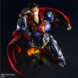 Wholesale Dc Superheroes Action Figures - 170613 QIUCHANY Nendoroid Wholesale 27cm New Hot Sale Superhero Superman Manga DC Comics Style PVC Action Figure