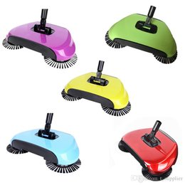 Wholesale Home Electricity - Sweeping Machine Magic Broom Dustpan Handle Push Magic Broom Without Electricity Robotic Hard Floor Sweeper Cleaner Tool c226