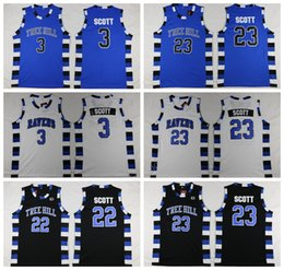 Wholesale Sports Quick Dry - One Tree Hill Ravens Jerseys Basketball Brother Movie 3 Lucas Scott 23 Nathan Scott Jersey Sport Stitched Team Color Black White Blue