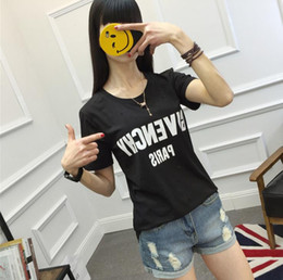 Wholesale Europe Summer - 2017 Summer Europe Paris Fan Made Fashion Men High Quality Broken Hole Cotton Tshirt Casual Women Tee T-shirt