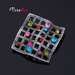 Wholesale Crystal Fashion Safety Pin - Wholesale- Unique Design Colorful Crystal Retro Brooches For Women And Men Safety Pins Brooch Fashion Alloy Jewelry