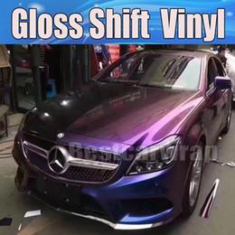 Фиолетовый блеск сдвиг Хамелеон блеск автомобиля обернуть винил с воздушным пузырем свободный автомобиль Союза покрытие флип-флоп фольги размер: 1.52*20 м / рулон 5x67ft от