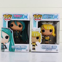 Wholesale Anime Figure Vocaloid - 10cm FUNKO POP Anime Hatsune Miku Diva miku Nendoroid Vocaloid pvc doll Action figures birthday gift for kids toy retail
