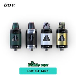 Wholesale Unique Tank Tops - iJoy ELF Tank 2ml Capacity Atomizer Top Filling with Pinpoint Airflow Control Unique Resin Drip Tip fit 35w Out Put Mod