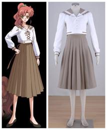 Wholesale Sailor Moon Costumes Kids - Sailor Moon Kino Makoto summer uniform anime cosplay womens Halloween Costumes
