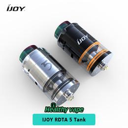 ijoy e zigarette Rabatt Ursprüngliche Ijoy RDTA 5 Tank 4 ml Kapazität 25mm Durchmesser E cig Zerstäuber E Zigarette Zerstäuber IMC Coil-3 Vorgefertigte Spule IMC-3 Deck
