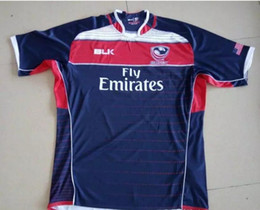 Wholesale Usa Rugby Jerseys Xxl - 2017 2018 Newest NRL National Rugby jerseys League USA United States Rugby jerseys navy blue 17 18 USA rugby jerseys mens shirts Size S-3XL