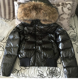 Wholesale Real Fur Hood - Hot Sale Women Winte Down Jacket warm and thicker with 100 % white duck As fashion stlye real recoon biggest fur on the hood coat