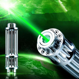 Wholesale Pointer Burning Torch - High Quality 532nm Green Laser Pointer Pen Torch adjustable focus visible beam burn match lit Fireworks 5 star caps Free shipping