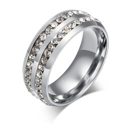 Wholesale Jewelry Gold For Man Price - Black Gold Silver crystal rings for women and men stainless steel wedding ring vintage jewelry factory price