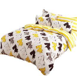 Wholesale Horse Comforter King Size - Wholesale- Svetanya cute horses 4pcs duvet cover set 5pcs quilt set polyester fabric silk quilt comforter Twin Full Queen size bedding set
