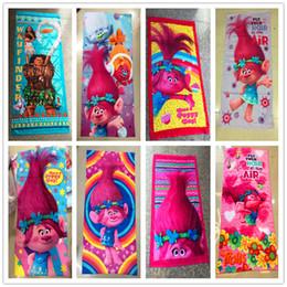 Wholesale Cartoon Children Bath Robe - Children Moana Trolls Carton Bath towel summer beach swimming Kids Towels 150*75cm C2222