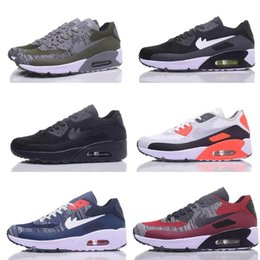 Wholesale New Fabric Lines - Hot selling top new air 90 flight line men's air cushion running shoes high quality sports shoes free delivery - cargo Size 7-11