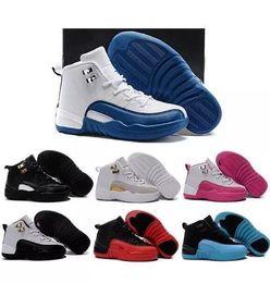 sapatos grátis para crianças Desconto Crianças 12 Sapatos de Basquete Crianças Atlético Calçados Esportivos para o Menino Meninas Sapatos Tamanho Frete Grátis: 28-35