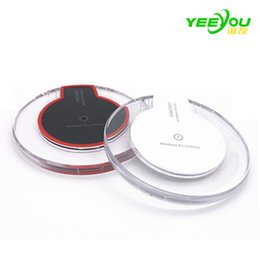 Wholesale Huawei Pads - Luxury Qi Wireless Charger Universal Charging Pad Mini for iphone 8 7plus 6S i8 Samsung Galaxy S6 S7 Edge S8 Plus huawei xiaomi
