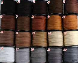 Wholesale Wholesale Leather Flats - 20colors 3mm Flat Faux Suede Leather Cord,DIY Leather String Cord Supplies,Faux Suede Lace,Vegan Suede Cord