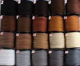 Wholesale Diy Leather Flat Cord - 20colors 3mm Flat Faux Suede Leather Cord,DIY Leather String Cord Supplies,Faux Suede Lace,Vegan Suede Cord