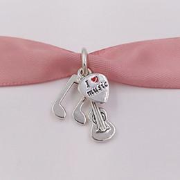 Pendenti della collana di musica online-Autentico 925 Sterling Silver Beads Music Trinity pendente fascino adatto europeo Pandora gioielli stile collana bracciali 791504EN09