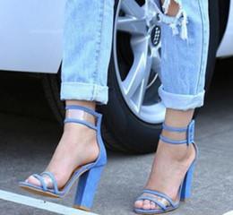Wholesale Transparent Sandals For Women - Size 34-43 2017 Newest Women Sandals Heels Shoes Sexy Fisherman Transparent Ankle Sandals Sandalias Mujer for Ladies Pumps