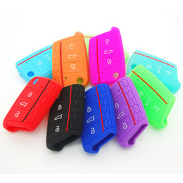 Wholesale Silicone Key Cover For Vw - Silicone Key Case Cover For Volkswagen VW Golf 7 mk7 for Skoda Octavia A7 Key Protect Case Bag Car Accessories AUP_40Z