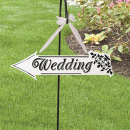 Wholesale Wedding Sign Supplies - Wedding Party Sign Card Board Creative Wooden WEDDING Indicator Signs Dream Catcher Wedding Decoration Props Supplies