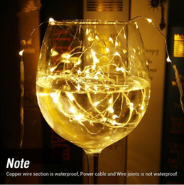 Wholesale Rope Light For Wedding - battery led copper wire string light 3m 30 leds 5m 50leds for holiday lighting Fairy Party Wedding Christmas Flashing LED rope