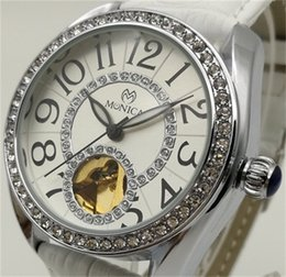 Wholesale Wholesale Cheap Automatic Watches - Mechanical Watches Brand Women Belt Digital Decorated Diamond Watch Factory Direct Sales China Cheap Label Automatic Hollow White Watch