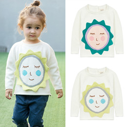 Wholesale Handmade Sweaters Children - 2017 Pullover Sweaters autumn winter clothing baby sweater handmade sun two colors boys children sweater 1583