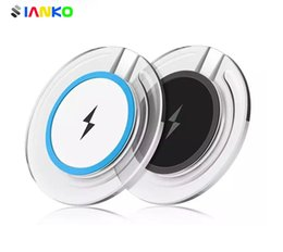 Wholesale Cell Phone Qi Charger - IANKO Qi Wireless Charger Pad for Samsung Galaxy S7 S6 S8 edge Note 7, 8 Qi Mobile Cell Phone Smartphone Charge Charging Dock