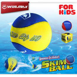 Wholesale Swimming Pool Water Balls - Christmas Gift for Kids pools Toy Winmax Funny Swimming Balls Bounces on Water Skim Ball Water Proof Skimming Silicone Water Bouncing Balls