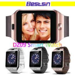 Wholesale Connect Bluetooth - DZ09 Smartwatch Bluetooth Connected Android Phone with Camera Function Support SIM Intelligent Sleep State DZ09 Wristband Free DHL Shipping