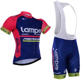 Wholesale Merida Bike Clothing - Maillot ciclismo hombre 2017 pro team Lampre merida cycle jersey ropa ciclismo short sleeve cycling clothing bicicleta MTB bike jersey kit