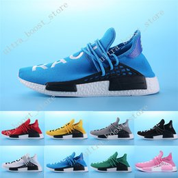 Wholesale Medium Size Gift Boxes - Cheap 2017 Top Gift Shoes Sneakers NMD HumanRace Hot mens Running Shoes sneakers for men Couple Race shoes Human Race Size 36-45 With Box