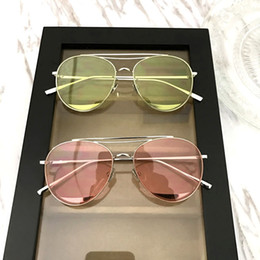 Wholesale Sunglasses C Brand - Fashion Brand Sunglasses For Women Sunglasses Round Lens Sun Glasses Male Mirror Men Glasses Female Eyewear Vintage Gold Glasses candy C