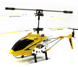 Wholesale Wholesale Syma Rc Helicopters - Original Syma RC Helicopter with Gyro Mode 2 RTF without Camera Remote Control Toys with One set of Blades as Gift