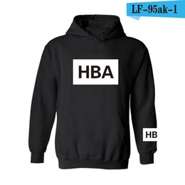 Wholesale Tracksuit Women Big Sizes - Wholesale- Hot Sale Kpop EXO HOOD BY AIR HBA Hoodies Unisex Men & Women Cotton Tracksuit Big Size Letter Print Sweatshirt Hip Hop Clothes