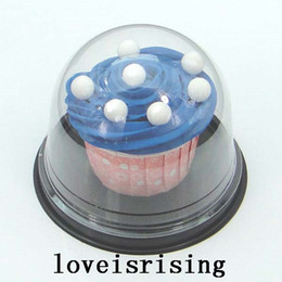 Wholesale Wholesale Cake Domes - 50pcs=25sets Clear Plastic Cupcake Cake Dome Favor Boxes Container Wedding Party Decor Gift Boxes Wedding cake boxes Supplies